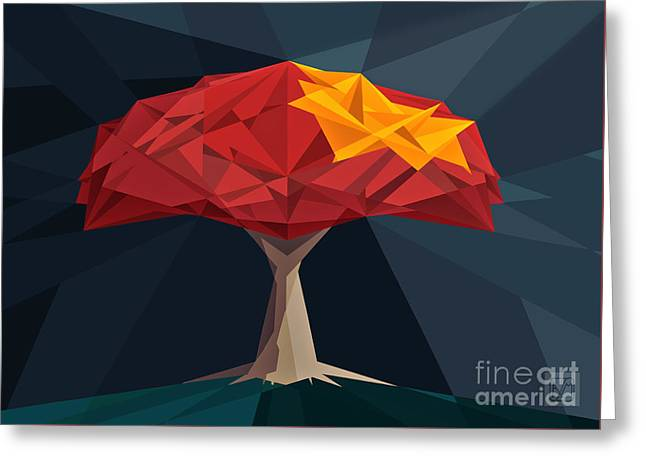 Wired Tree  Greeting Card