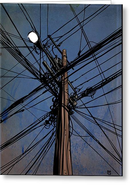 Wires 02 Greeting Card