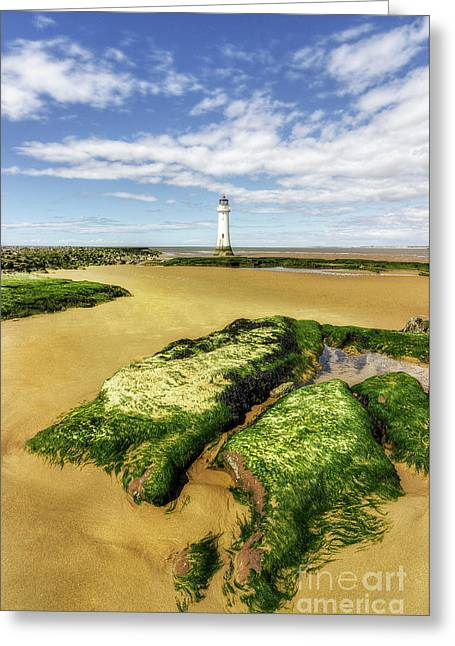 Greeting Card featuring the photograph Wirral Lighthouse by Ian Mitchell