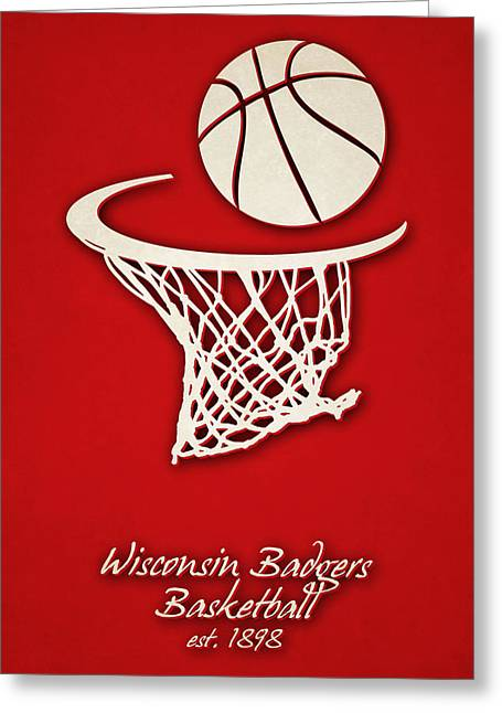 Wisconsin Badgers Basketball Greeting Card