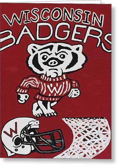 Wisconsin Badgers Greeting Card by Jonathon Hansen