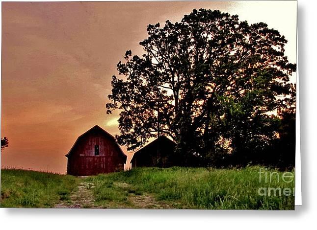 Wisconsin Barn Greeting Card