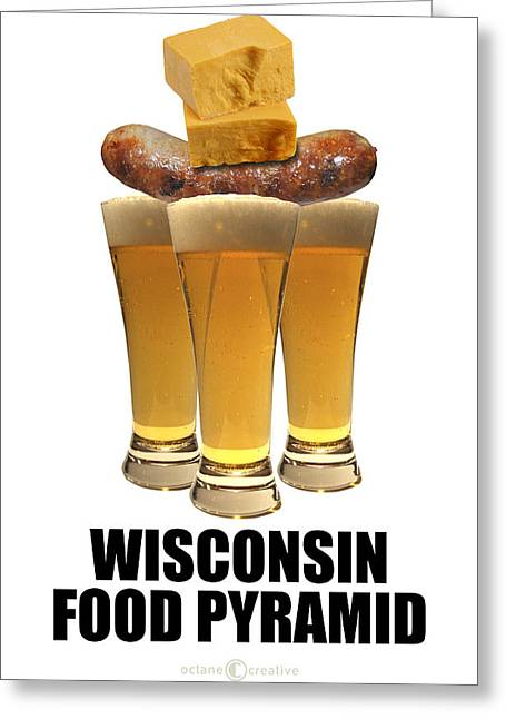 Wisconsin Food Pyramid Greeting Card