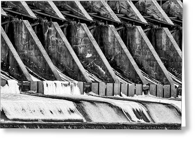 Wisconsin River Dam Greeting Card by Steven Ralser