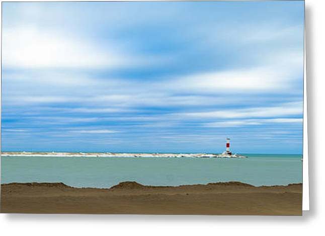 Greeting Card featuring the photograph Wisconsin Winter Lakefront by Steven Santamour