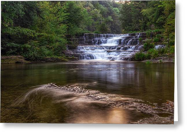 Greeting Card featuring the photograph Wiscoy Falls by Mark Papke