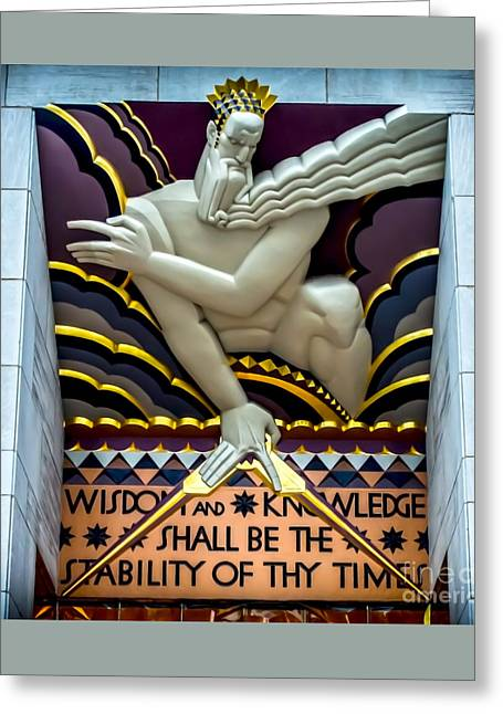 Wisdom And Knowledge Greeting Card by James Aiken