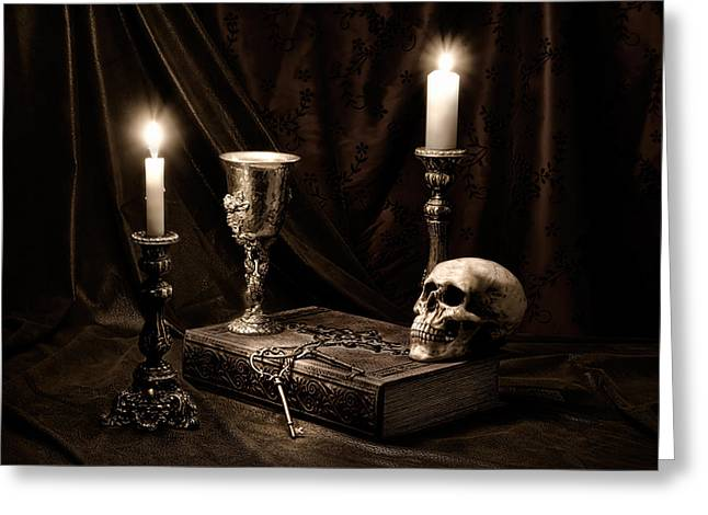 Wisdom Of The Ages Still Life Greeting Card