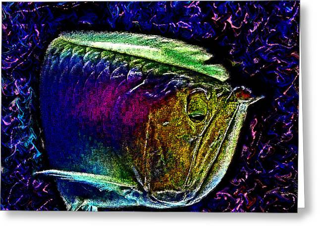 Wise Fish. Muddy Water. Swimming. Greeting Card by Andy Za