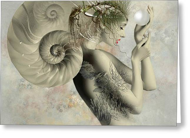 Wish On A Pearl Greeting Card by Ali Oppy