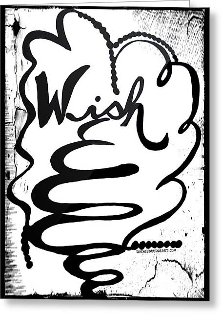 Greeting Card featuring the drawing Wish by Rachel Maynard