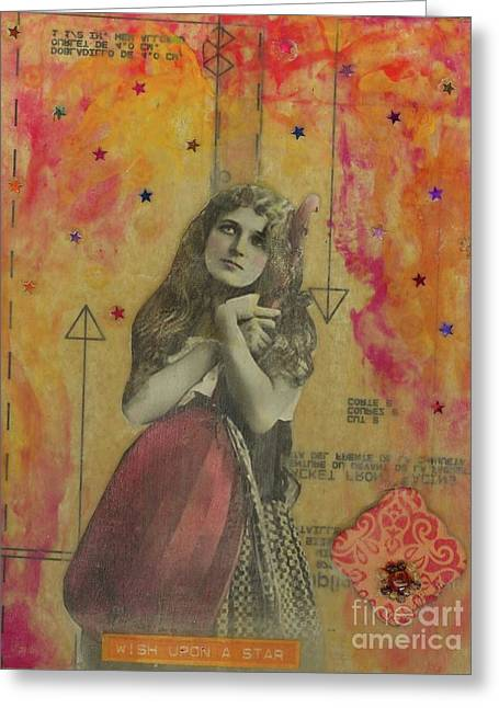 Greeting Card featuring the mixed media Wish Upon A Star by Desiree Paquette