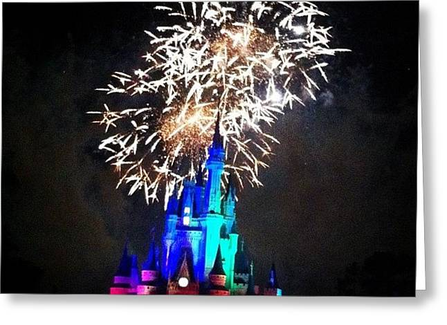 Wishes Fireworks Show Greeting Card