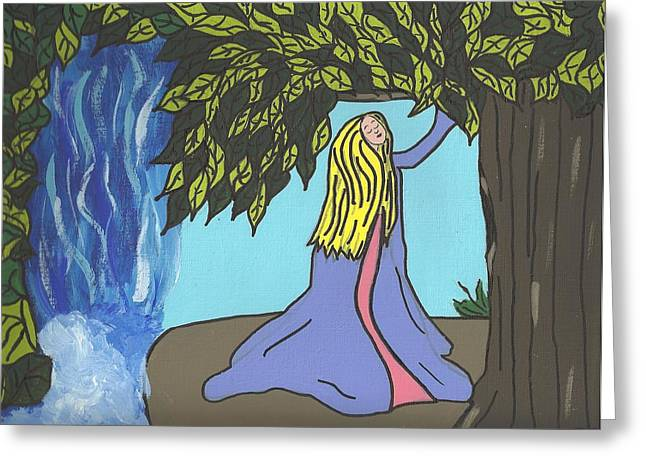 Wishin Tree Greeting Card by Janell Calori