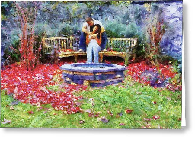Best Sellers -  - Wishes Greeting Cards - Wishing Pond Greeting Card by Jai Johnson