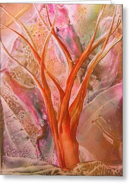 Wishing Tree Greeting Card by John Vandebrooke