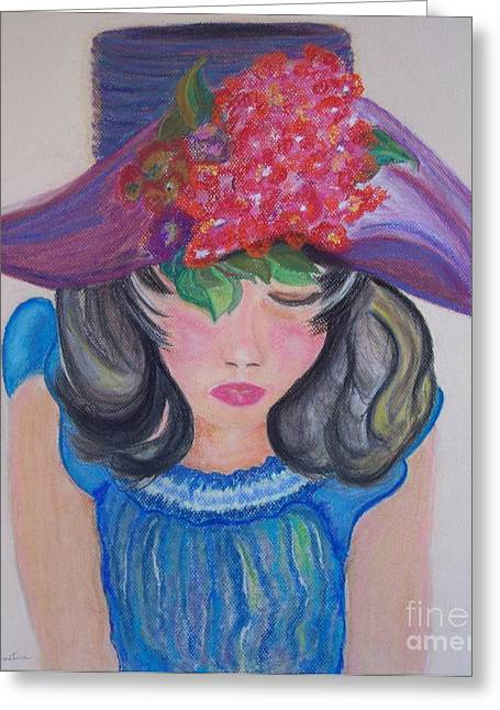 Greeting Card featuring the painting Wishing You Were Here by Lori  Lovetere