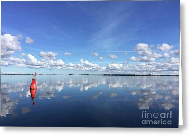 Wismar Bay In Fall Greeting Card