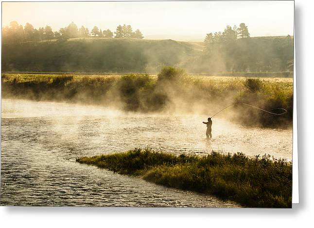 Wisps Of Fog Greeting Card by Todd Klassy