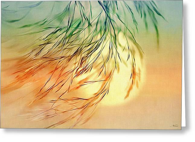 Wispy Sunset-0 Greeting Card
