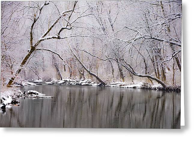 Wissahickon Creek In A Winter Wonderland Greeting Card by Bill Cannon