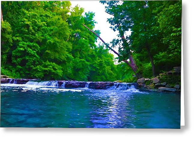 Wissahickon Waterfall Greeting Card
