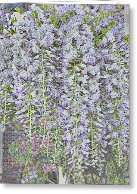 Greeting Card featuring the photograph Wisteria Before The Hail by Nareeta Martin