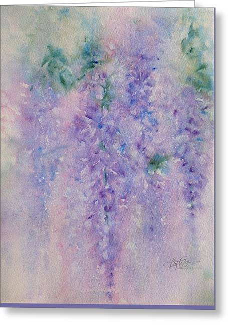 Wisteria Dream Greeting Card by Bette Orr