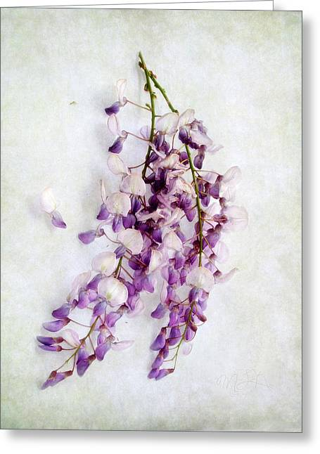 Wisteria Still Life Greeting Card by Louise Kumpf