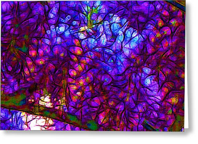Wisterias Greeting Card by Jean-Marc Lacombe