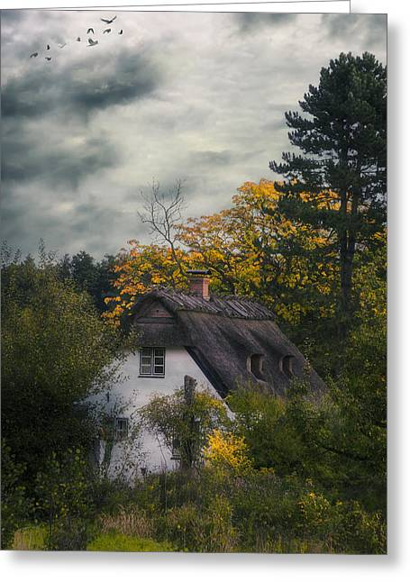 Witch Cottage Greeting Card by Joana Kruse