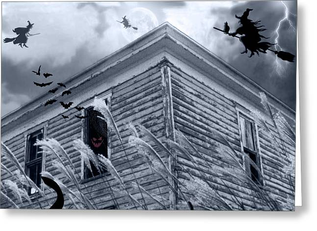 Creepy Digital Greeting Cards - Witch Hunt Greeting Card by Brian Wallace