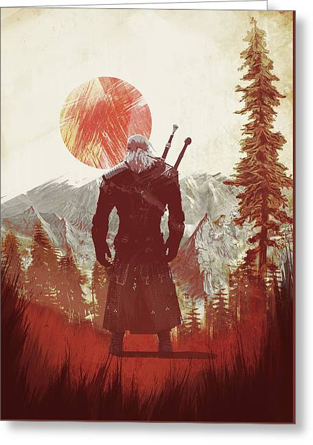 Witcher 3 Greeting Card
