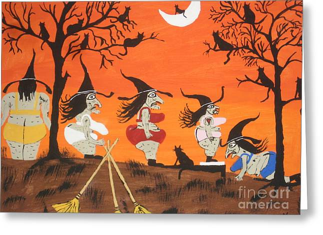 Witches Biggest Loser Greeting Card by Jeffrey Koss