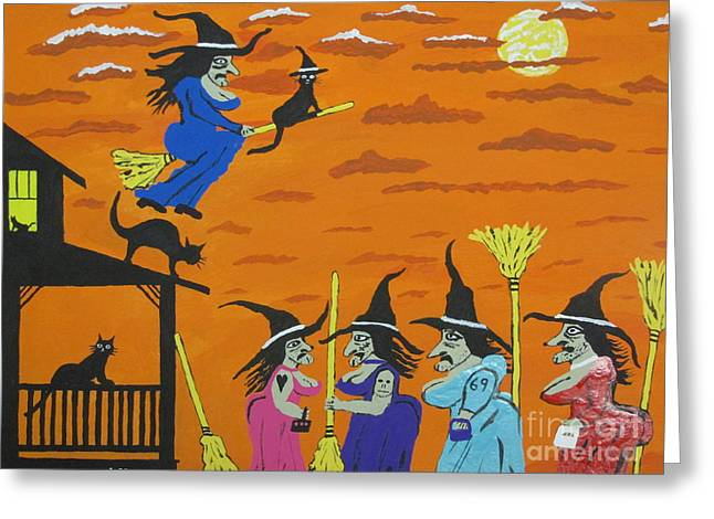 Witches Prom Night Greeting Card by Jeffrey Koss