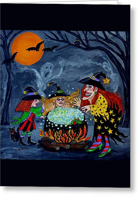 Witches Spelling Class - Halloween Greeting Card