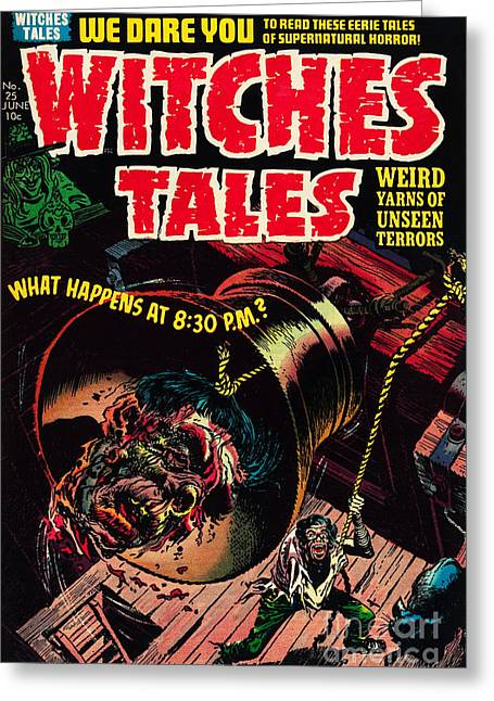 Witches Tales Comic Book Cover Greeting Card by Halloween Dreams