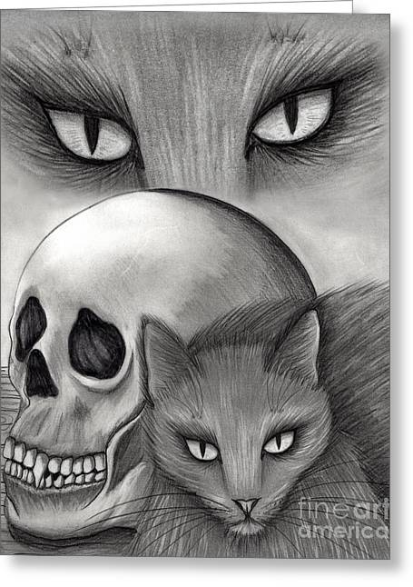 Witch's Cat Eyes Greeting Card