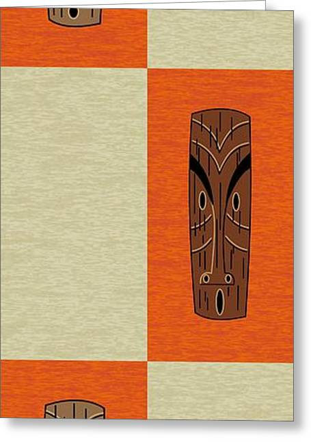 Greeting Card featuring the digital art Witco Tikis 1 by Donna Mibus