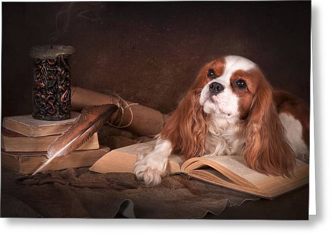 With A Dog... Greeting Card