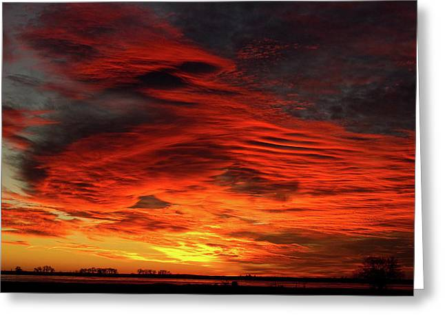 Sunset Canvas Art Greeting Cards - With All My Love Valentines Colorful Sunrise Union Lake Longmont Greeting Card by James BO  Insogna
