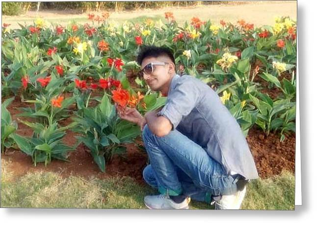 With D Lap Of Nature Greeting Card by Madhusudan Bishnoi