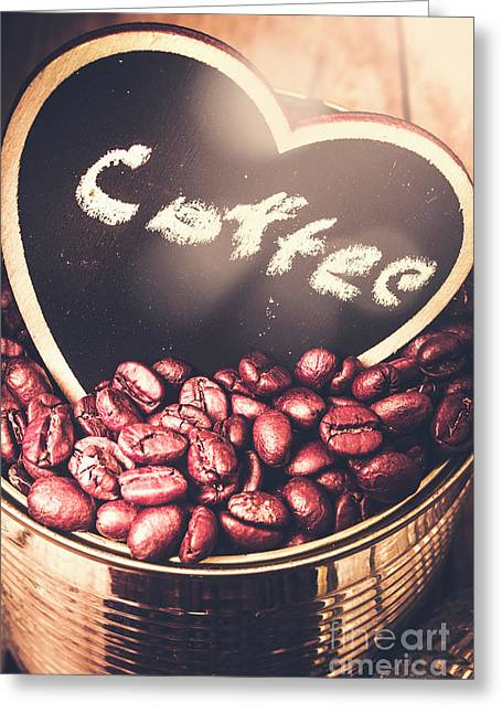 With Light And Coffee Love Greeting Card