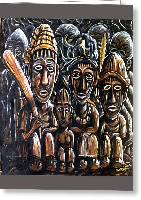 With Love A Family In Harmony Greeting Card by Mbonu Emerem
