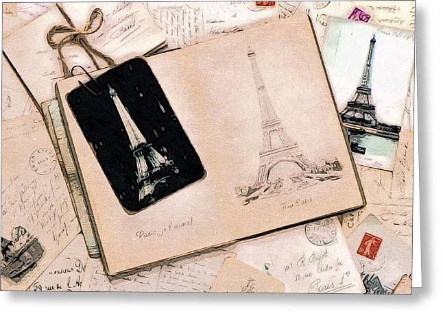 With Love From Paris Greeting Card