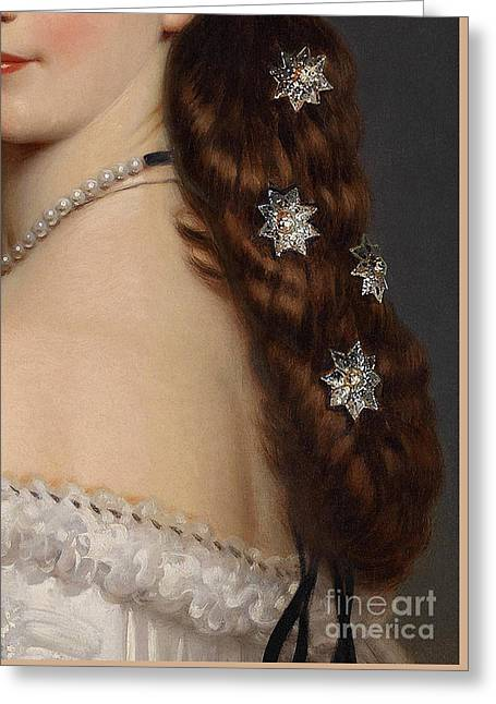 With Stars In Her Hair Closeup Crop Greeting Card by Tina Lavoie