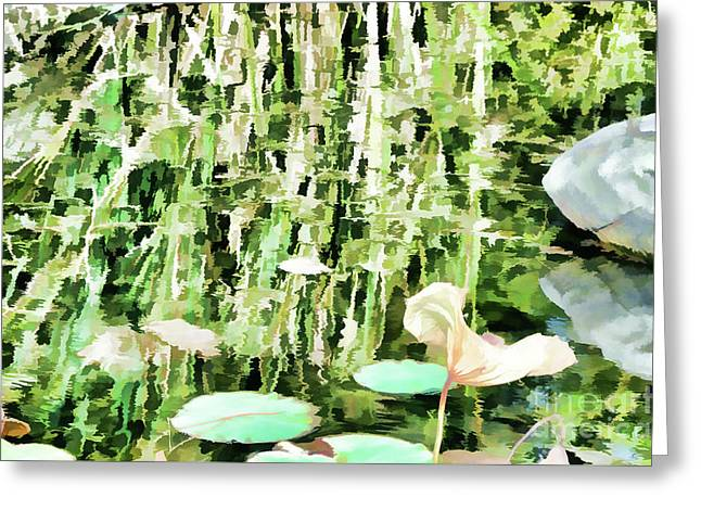 Withered Lotus In The Pond 3 Greeting Card