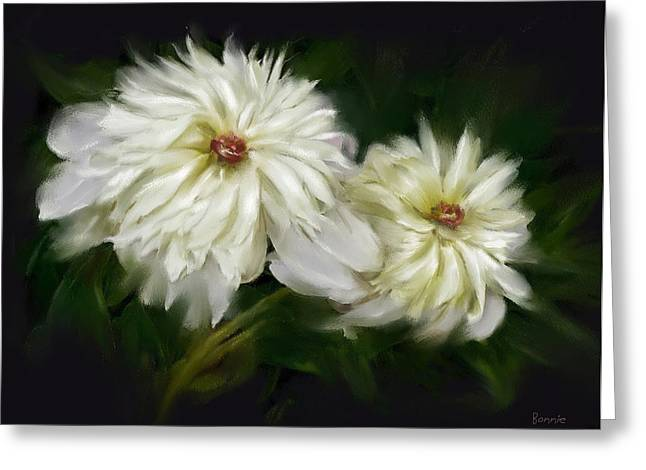 Withering Peony Greeting Card by Bonnie Willis