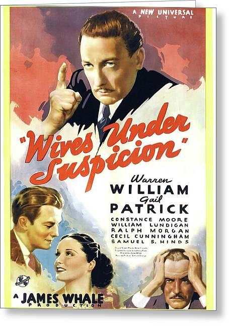 Wives Under Suspicion 1938 Greeting Card by Universal