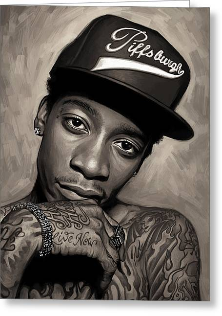 Wiz Khalifa Artwork  Greeting Card by Sheraz A